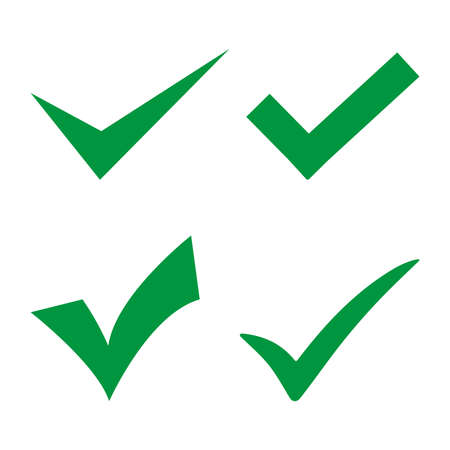 Green sign affixed on a white background