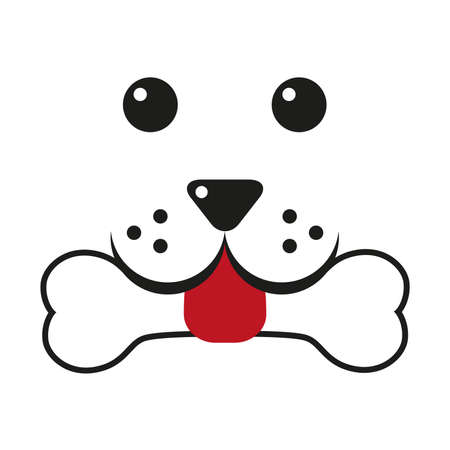 Dog head and nose Pet shop vector logo on a white background