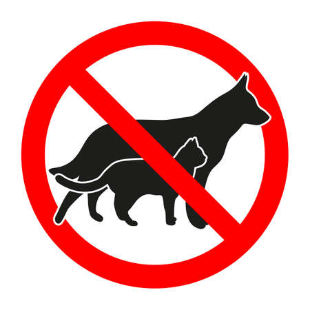 forbidden animal sign on white background Banque d'images - 105255209