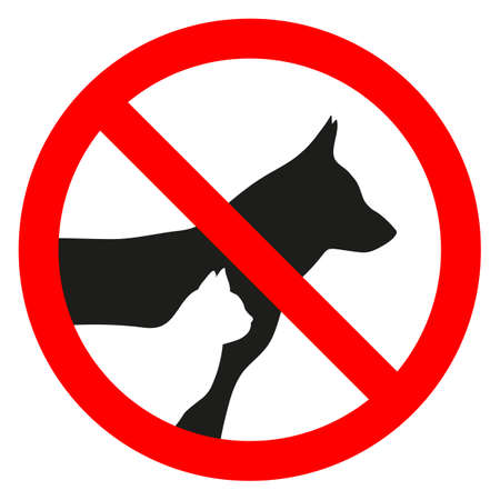 sign forbidden entry with animals on a white background Banque d'images - 105255440