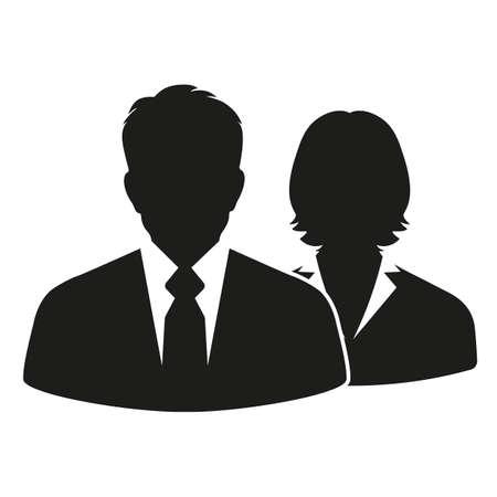 Man and woman businessmen. Ilustração