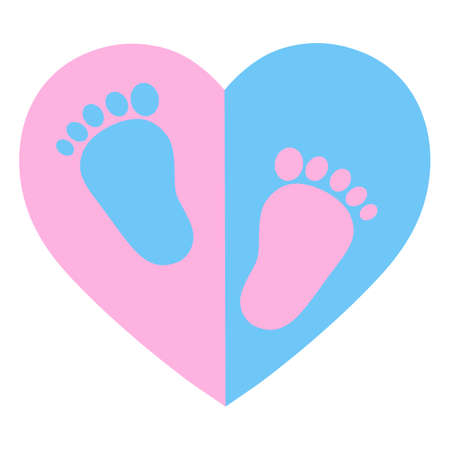 Children Protection Day. baby legs (girls and boy) on the background of the heart. The concept of love, protection and motherhood. Ilustração