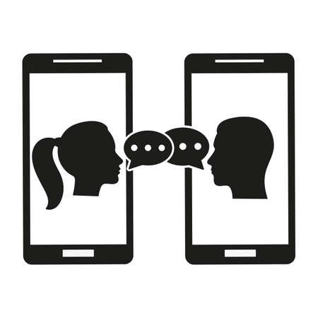 phone on white background Illustration