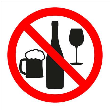 znak zakazu Ilustracje wektorowe