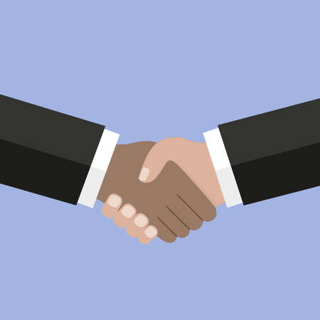 Business handshake, Shaking hands design concept, business agreement, bet, partnership concepts. Two hands shaking each other. Business partners.