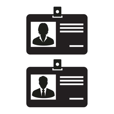 Web line icon. Business cards with clasp on white background Ilustrace