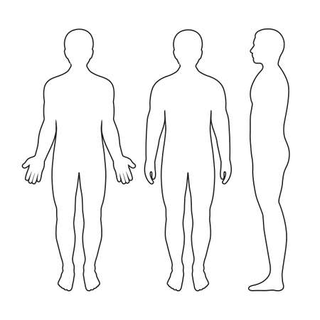 Illustration von Männer-Silhouetten