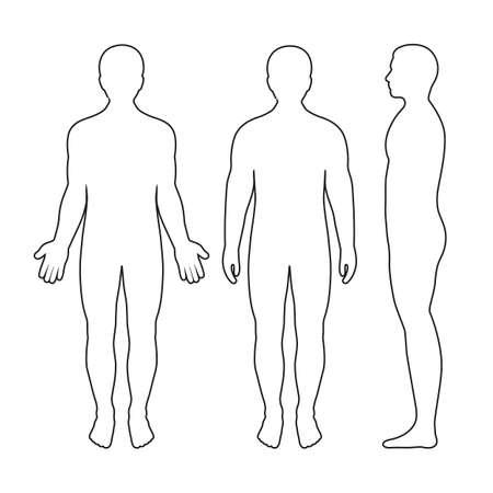 illustrazione di sagome di uomini