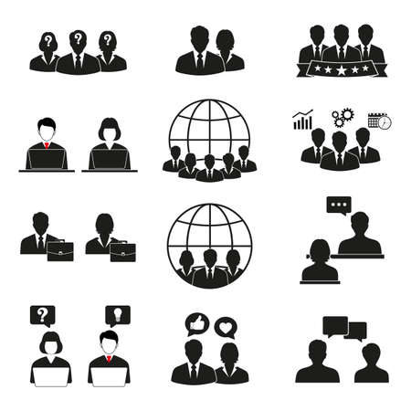 People icons set. Office men and women. Ilustrace