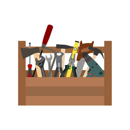 construction box with tools