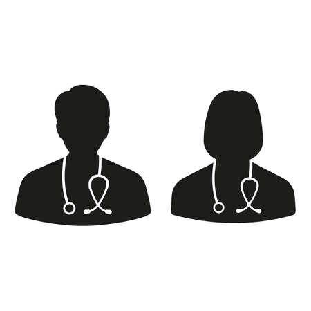 Doctor line icon men and women.