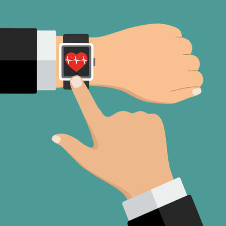 smartwatch on hand display healthcare