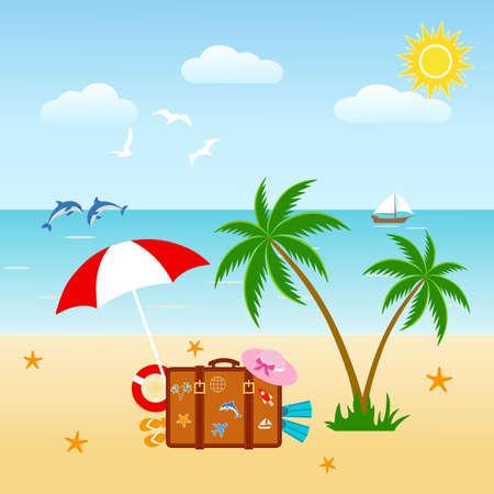 Beach and tropical sun