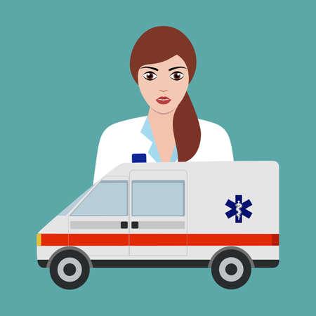 doctor ambulance car. ambulance medical service first Ilustrace