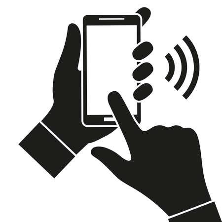 mobile phone on white background Standard-Bild - 123276139