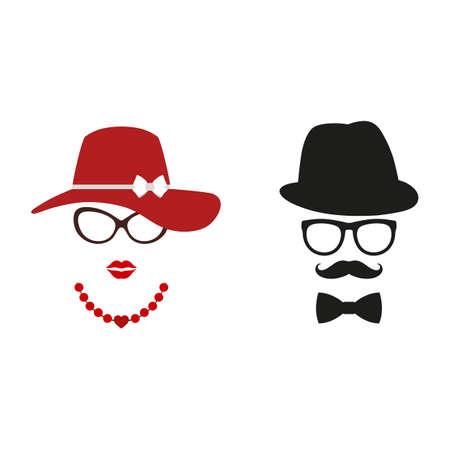Man and woman avatar profile