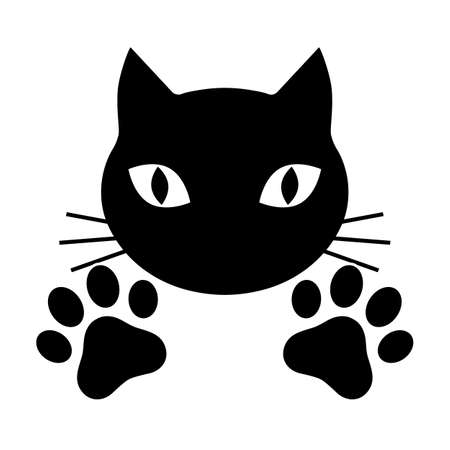 Muzzle of a cat with paws Standard-Bild - 124357294