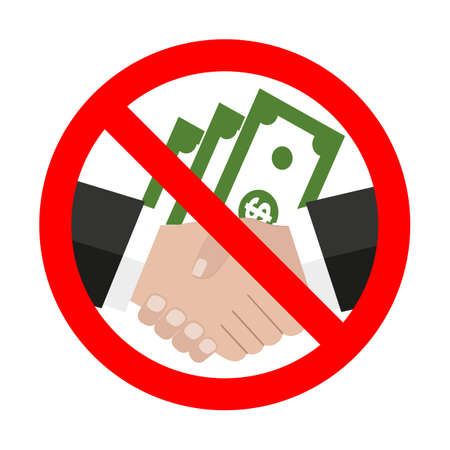 Sign Stop corruption icon money check