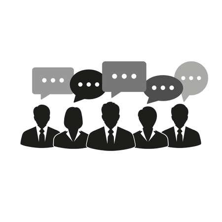 People businessmen talking. Standard-Bild - 125639786