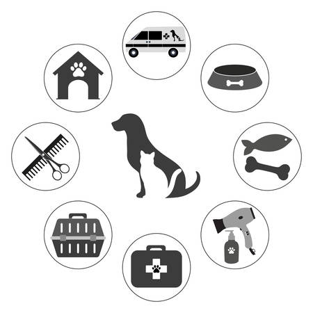 veterinary icons for pet service Standard-Bild - 125639789