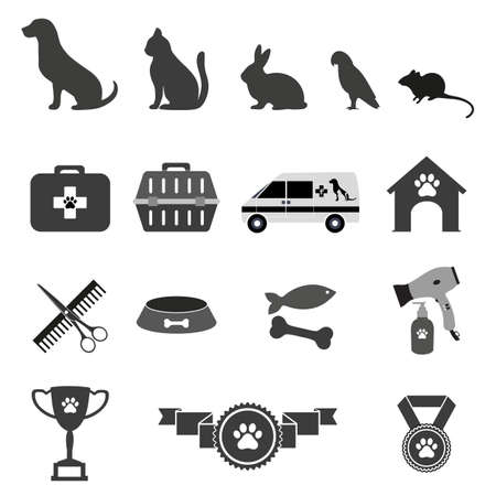 veterinary icons for pet service Standard-Bild - 125639790