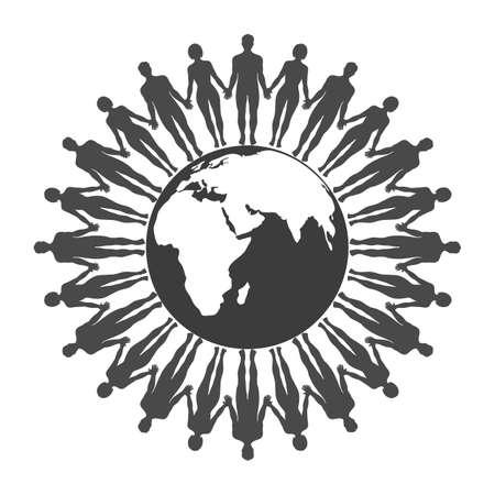 Global Globalization World Map Environmental Standard-Bild - 125639793