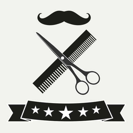 Barber shop haircut Standard-Bild - 125639796