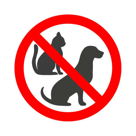 Prohibition sign animals