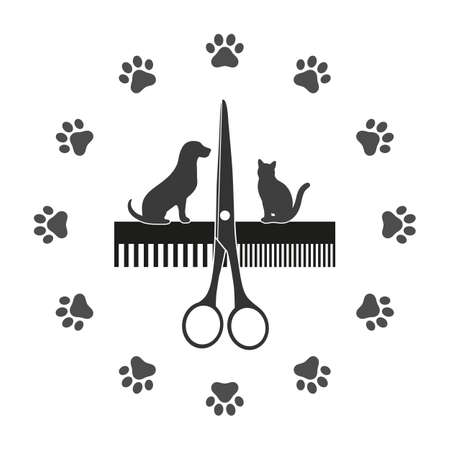 Dogs grooming and cats Standard-Bild - 126547444
