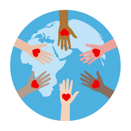 United hands and hearts Standard-Bild - 126547481