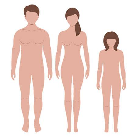 sylwetki mężczyzny i kobiety Ilustracje wektorowe