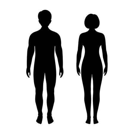 illustration of man and woman silhouettes