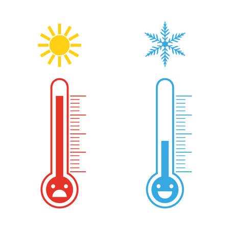 thermometers of heat and cold temperature