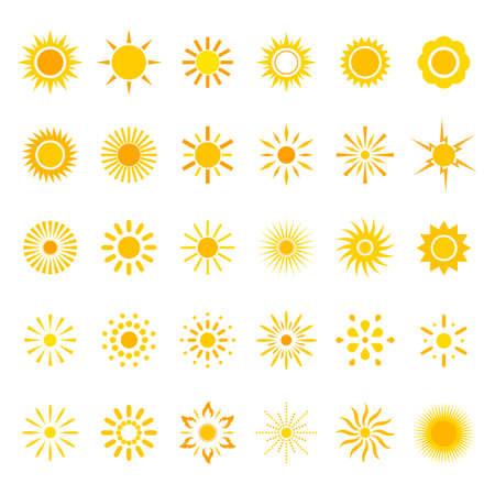illustration Set symbols of the sun Иллюстрация