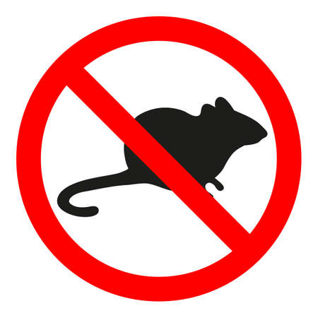 no rat sign in red crossed out circle