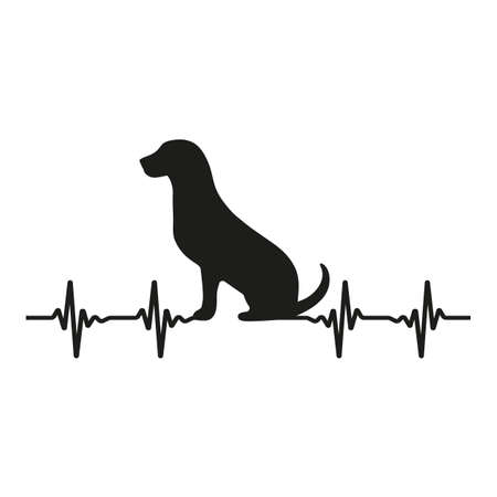 Veterinary symbol with a picture of dog