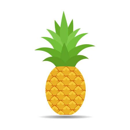 Illustration of tropical fruit pineapple Иллюстрация