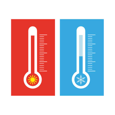 thermometers measuring heat and cold