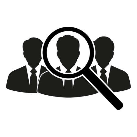 People search icon. Search for talented job candidates. Иллюстрация