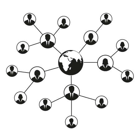 Social network concept. Connecting people. 일러스트