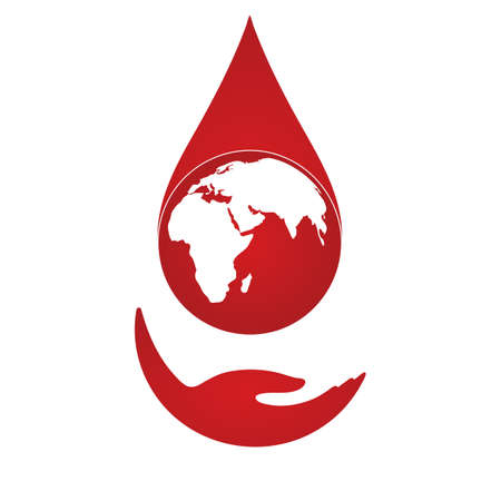 Illustration of World blood donor day. Illusztráció