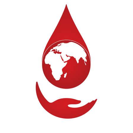 Illustration of World blood donor day. 일러스트