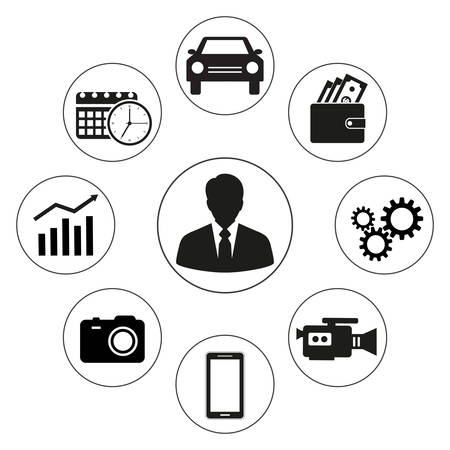 Simple Business icons set.
