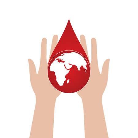 World blood donor day concept. Иллюстрация