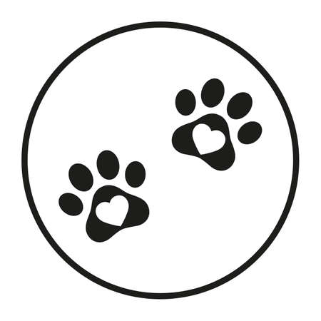 animal footprint logo template for veterinary clinic and pet shop