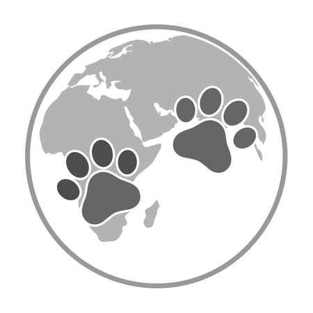 Illustration World Animal Day on a white background Ilustracja