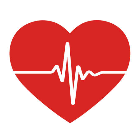 Medical icon heartbeat symbol.