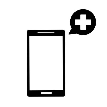 holding smartphone with doctor on call and an online consultation.