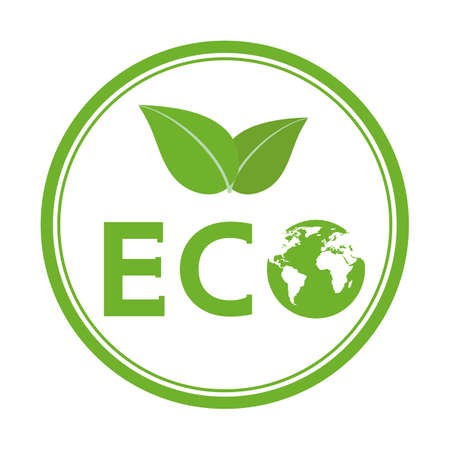 Ecological concept illustration. Green leaf and planet.Pollution problem. Environmental protection.