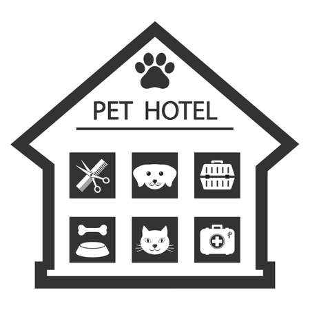 Animal pet shop  concept on a white background